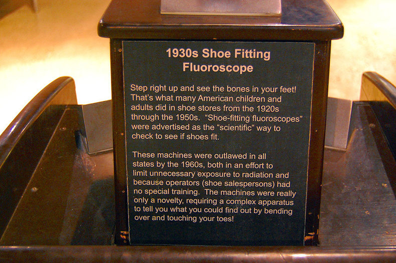 1940s Dr. Scholl's Fluoroscopic Shoe X-Ray