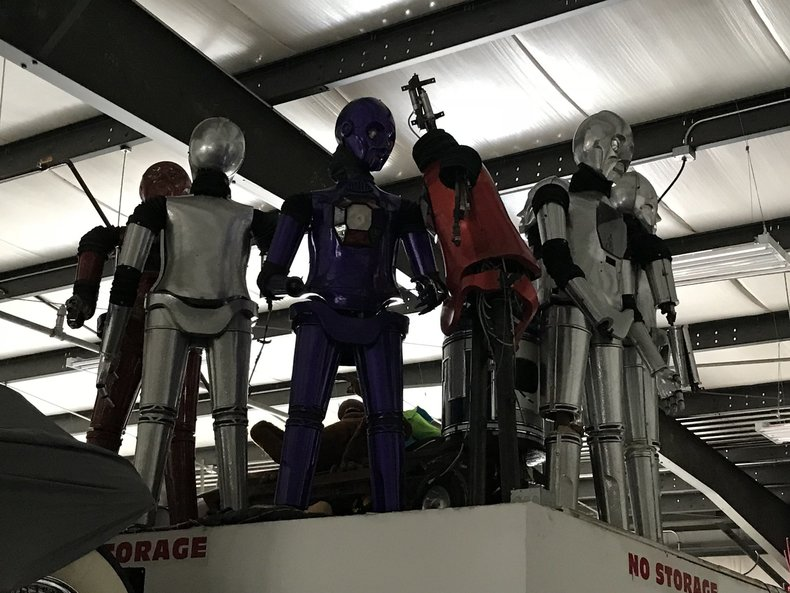 Entire Lot of Retired Robots from Tommy Bartlett Robot World.