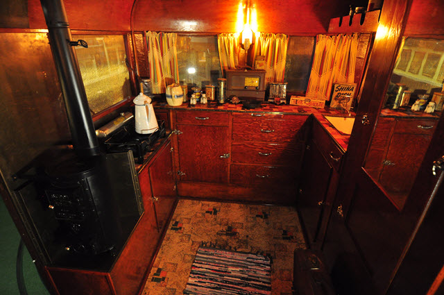 1932 covered wagon interior
