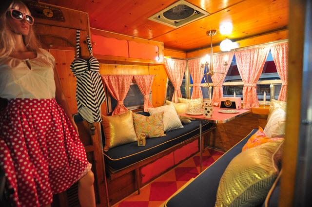 Barbie camper interior
