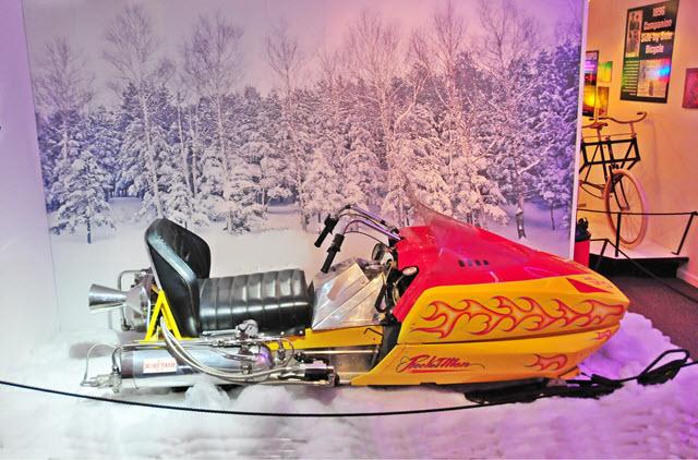 vintage snowmobile