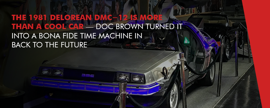 the famous DeLorean from Back to the Future