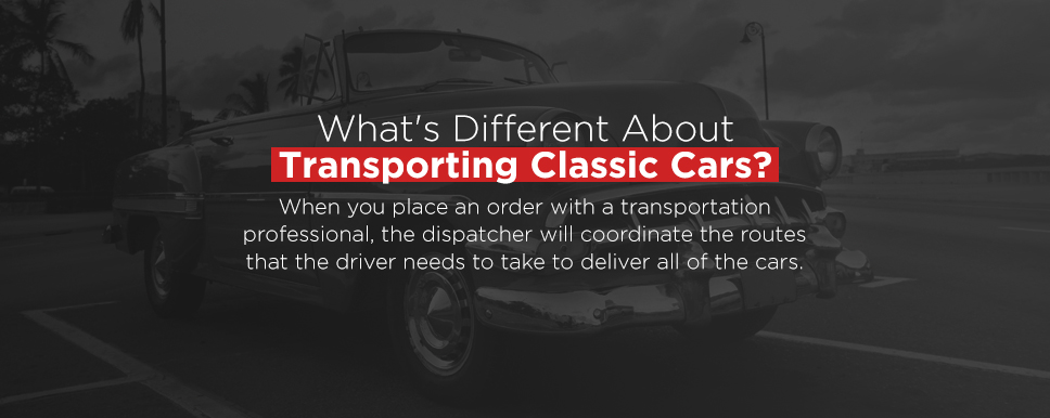 the difference with transporting a classic car