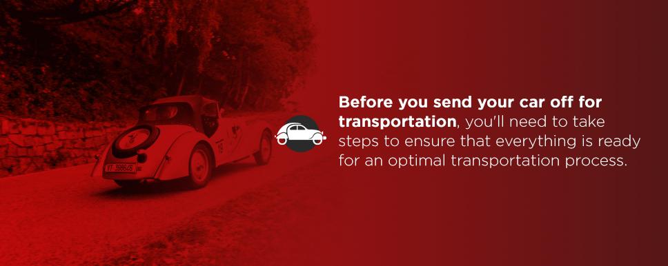 preparing your classic car for transport