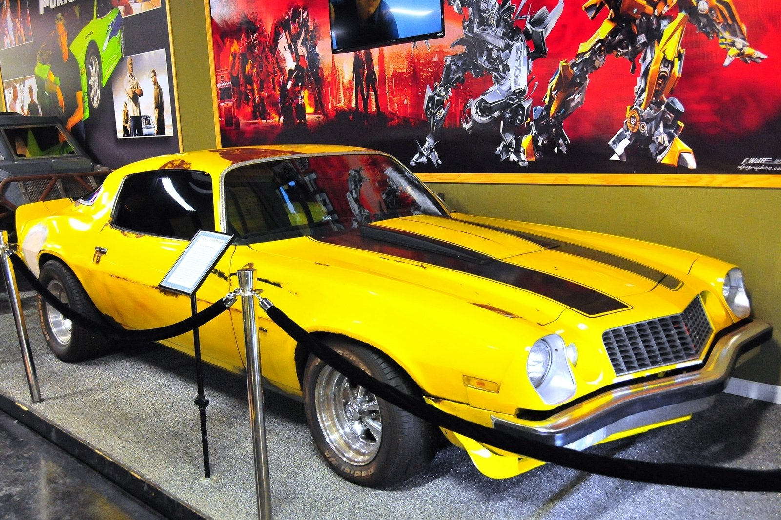 rent the Chevy bumble bee camaro