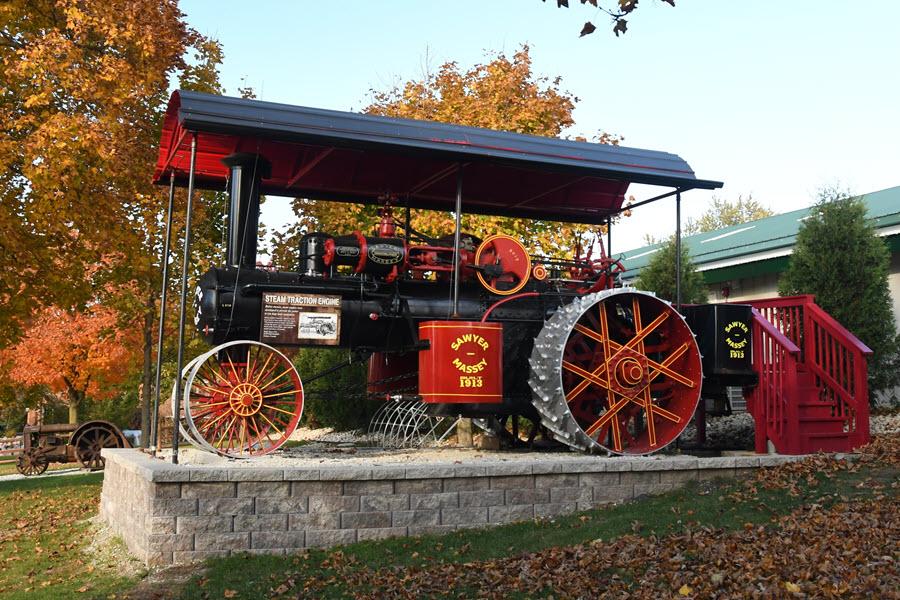 sawyer steam tractor