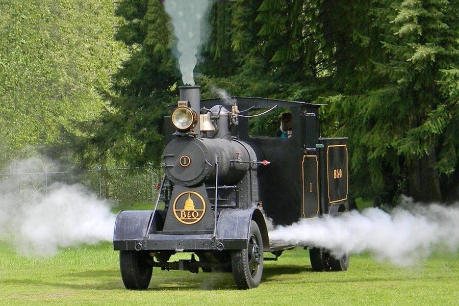 steam road locomotive