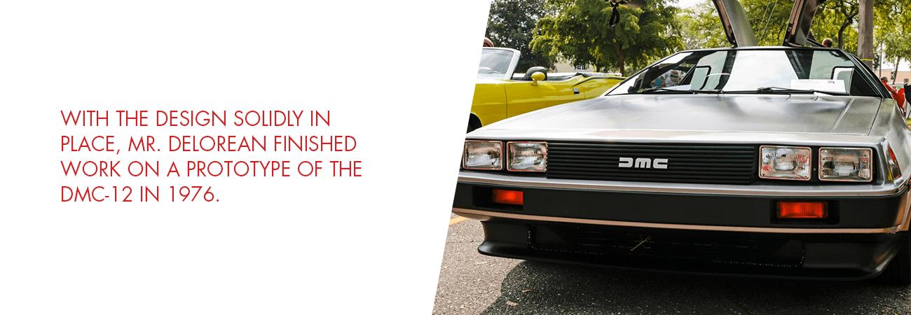 The DeLorean design was finalized in 1976