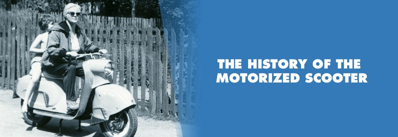history of the motorized scooter