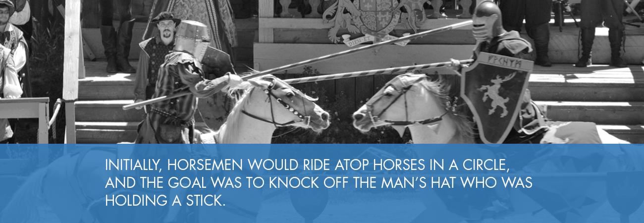 horsemen fighting in arena