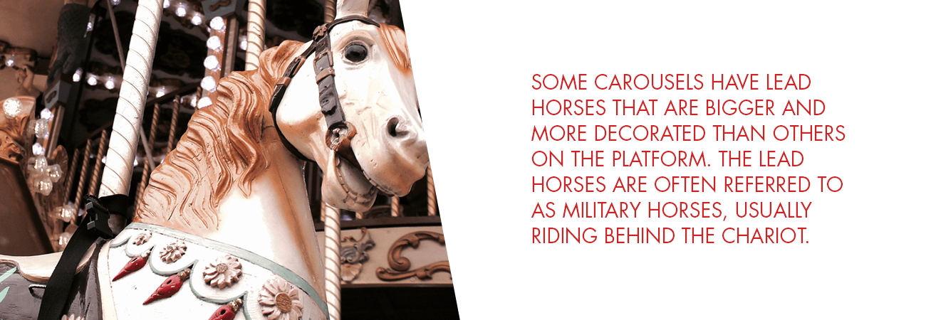 lead horse on a carousel