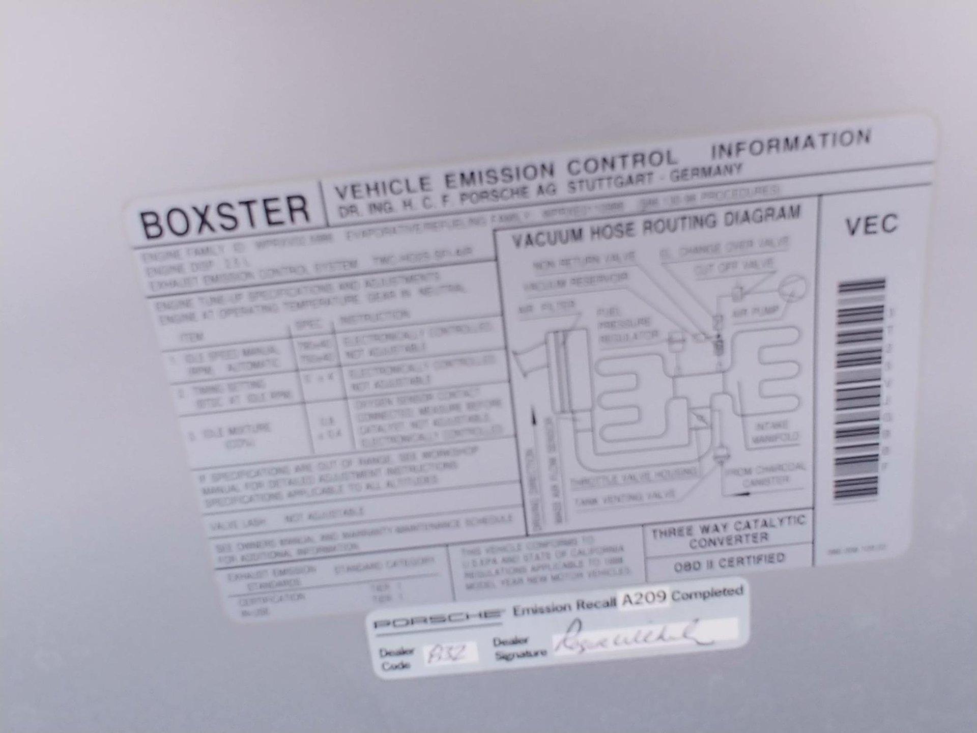 1998 Porsche Boxster Clean Carfax Nice For Sale 103966 Mcg Engine Vacuum Diagram